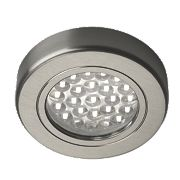 Sensio LED Cabinet Downlights Stainless Steel Pack of 3