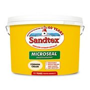 Sandtex Ultra Smooth Masonry Paint Cornish Cream 10Ltr