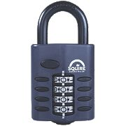 Squire All Weather Combination Padlock Black 48mm