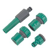 "Hose Fittings Set ¾"" 4 Pieces"