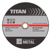Titan Metal Grinding Discs 230 x 6 x 22.2mm Bore Pack of 3