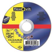 Flexovit Metal Cutting Disc 115 x 2.5 x 22.23mm Bore Pack of 5