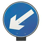 JSP Portacone Arrow Left Cone Sign 850mm