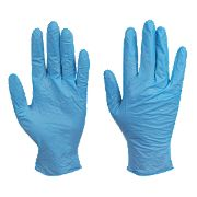 Skytec Utah Nitrile Powder-Free Disposable Gloves Blue Medium Pk100
