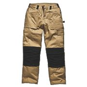 "Dickies Grafter Work Trousers Khaki / Black 32"" W 32"" L"