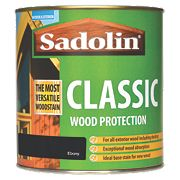 Sadolin Classic Exterior Woodstain Translucent Matt Ebony 1Ltr