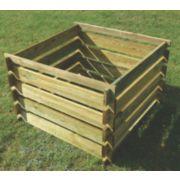 Apollo Wooden Composter Natural 0.9 x 0.9 x 0.6m