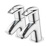 Bristan Smile Bath Pillar Bathroom Taps Pair
