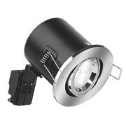 Aurora 30, 60 & 90min Fire Rated Adjustable LED Downlight IP20 Polished Chrome 50W