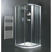 Moretti Quadrant Shower Enclosure Double Sliding Door Silver 800mm