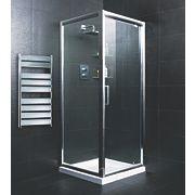 Square Shower Enclosure Polished Silver 740mm
