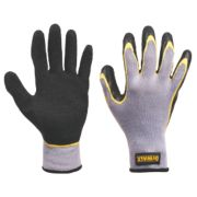 DeWalt General Handling Double-Dip Gripper Gloves Grey Large