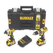 DeWalt DCK250P2 18V 5.0Ah Li-Ion XR Combi Drill & Impact Driver Brushless