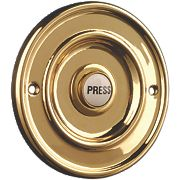 Bryon Wired Circular Bell Push Solid Brass 95 x 25mm
