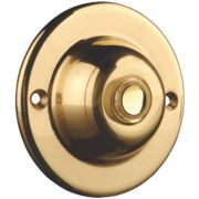 Byron Wired Illuminated Bell Push Brass 60mm