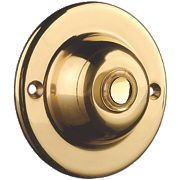 Byron Wired Illuminated Bell Push Brass 63 x 30mm