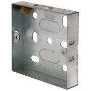 LAP Installation Boxes Galvanised Steel 1 Gang 16mm Pack of 10