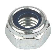 Nylon Lock Nuts BZP Steel M12 Pack of 50