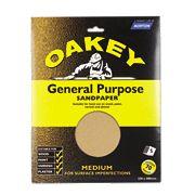 Oakey General Purpose Glass Paper Medium Pack of 5