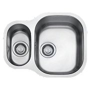 Franke Compact Square Undermount Kitchen Sink S/Steel 1½ Bowl 575 x 175mm