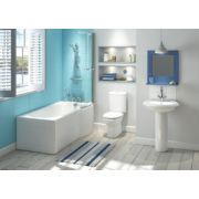 Salisbury Contemporary Bathroom Suite with Left Hand Shower Bath