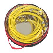 Bungee Cords with Zinc Hooks Yellow 1200 x 12mm Pack of 6