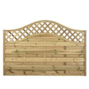 Forest Prague Wave-Top Lattice Fence Panels 1.8 x 1.2m Pack of 6