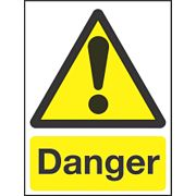 """Danger"" Sign 210 x 150mm"