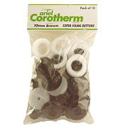 Corotherm Fixing Buttons Brown 10mm Pack of 10