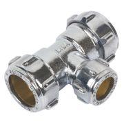 Conex Chrome Compression 22x22x15 Reducing Tee