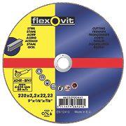 Flexovit Metal Cutting Discs 230 x 3.2 x 22mm Bore Pack of 25
