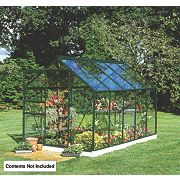 Halls Popular Greenhouse Green Toughened Glass 6 x 10