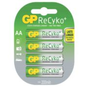 GP Batteries ReCyko+ Rechargeable Batteries AA Pack of 4
