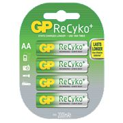 GP Batteries ReCyko+ Rechargeable Batteries AA Pack of 4