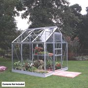 Halls Popular Framed Greenhouse Aluminium 6 x 6 x