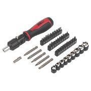 Forge Steel Angled Ratchet Screwdriver Set 45 Pieces
