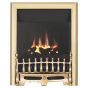 Focal Point Blenheim Brass Rotary Control Gas Inset High Efficiency Fire
