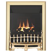Focal Point Blenheim Brass Rotary Control Gas Inset High Efficiency Fire