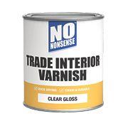 No Nonsense Quick-Dry Interior Varnish Gloss Clear 750ml