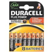 Duracell Alkaline AAA Batteries Pack of 8