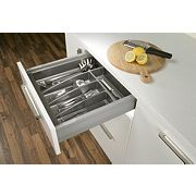 Hafele Moovit Cutlery Tray for 500mm Cabinet Matt Anthracite 400mm