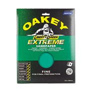 Oakey Liberty Green Extreme Sandpaper Fine Pack of 8