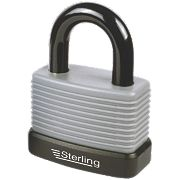 Sterling Weatherproof Padlock Aluminium 57mm