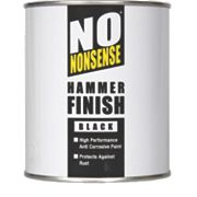 No Nonsense Metal Paint Hammered Black 750ml