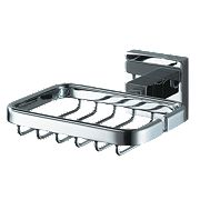 Aqualux Haceka Mezzo Soap Holder Chrome 122 x 53 x 137mm