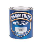 Hammerite Smooth Metal Paint Silver 750ml