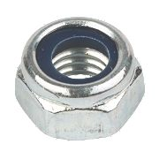 Nylon Lock Nuts BZP Steel M10 Pack of 100