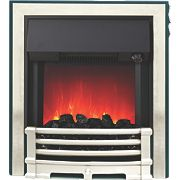 Be Modern Aspen Black / Chrome Switch Control Electric Inset Fire