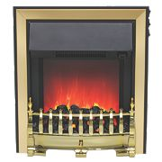 Be Modern Fazer Black / Brass Switch Control Electric Inset Fire