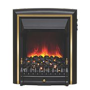 Be Modern Comet Black / Brass Switch Control Electric Inset Fire
